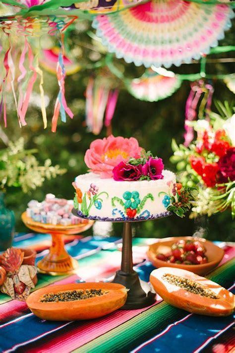 colorful mexican festive wedding ideas wedding cakes
