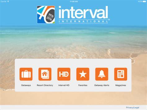 phone number for interval international interval international on the app