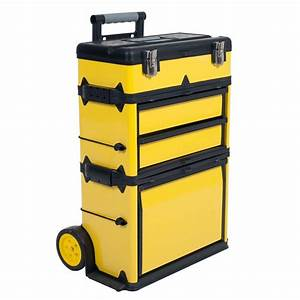 Husky 22 in Cantilever Plastic Tool Box with Metal