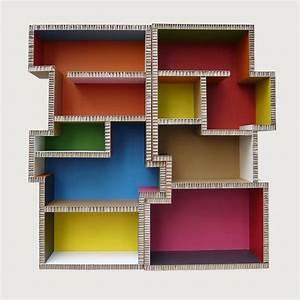 Meuble En Carton Design : 30 best images about mobilier carton on pinterest scripts belgium and livres ~ Melissatoandfro.com Idées de Décoration