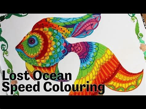 lost ocean  inky adventure  colouring book speed