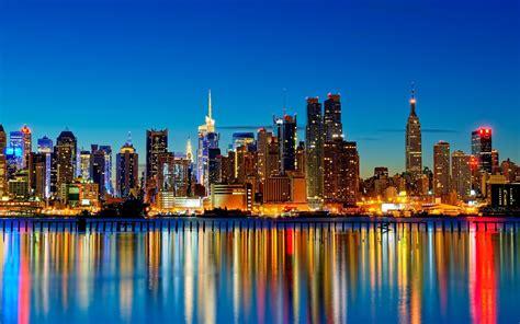 New York City, Usa, City, Cityscape, Reflection