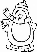 Penguin Coloring Winter Basic Pages Wecoloringpage sketch template