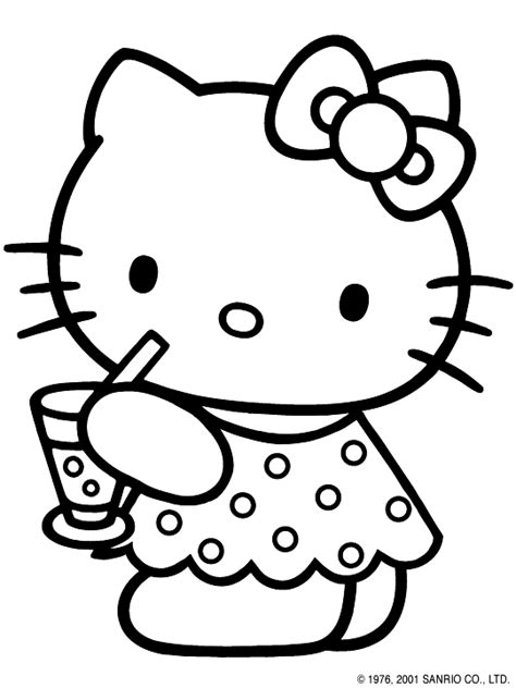 Coloring Pages For Girls: Hello Kitty coloring pages