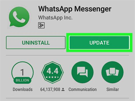 how to update whatsapp on android 4 steps with
