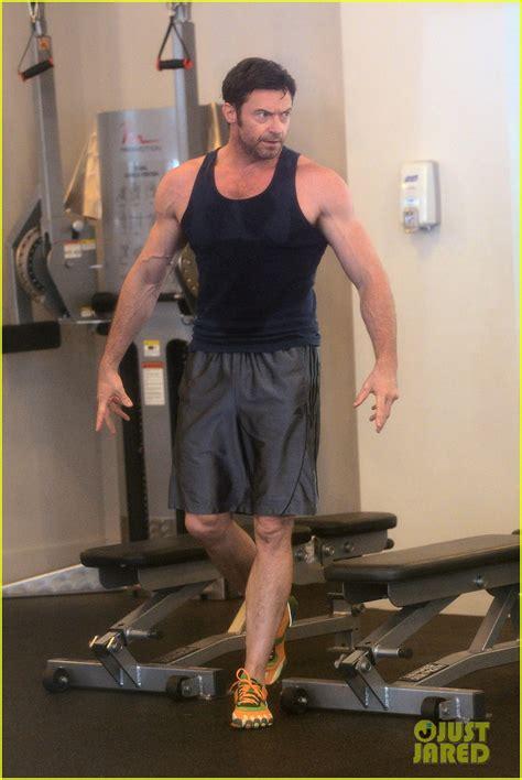 hugh jackman bulging biceps workout photo  ava