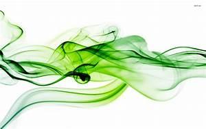 Green Smoke Curves Abstract wallpapers | Green Smoke ...
