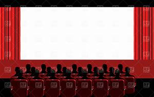 Movie theater - blue hall Royalty Free Vector Clip Art ...