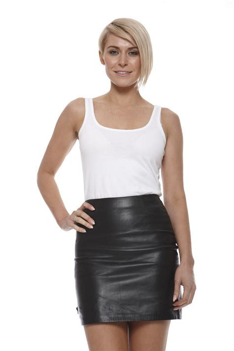 Leather Skirt Feminine in Sexy Way   Cosmetic Ideas