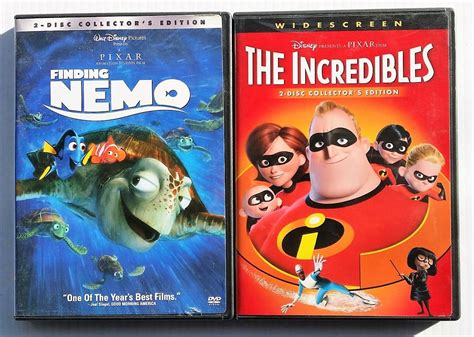 Walt Disney Pixar Dvd Lot Bugs Life Finding Nemo Monsters