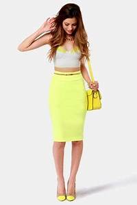 Neon Yellow Skirts on Pinterest