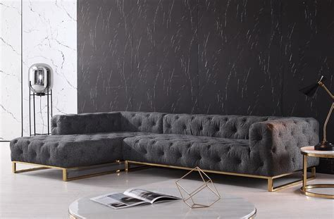 casa divani divani casa willa modern grey fabric sectional sofa