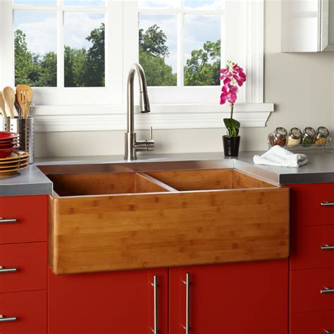 cheap double kitchen sink contemporary kitchen design with 33 inch farmhouse bamboo