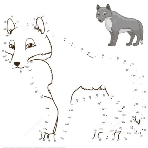 wolf dot  dot  printable coloring pages