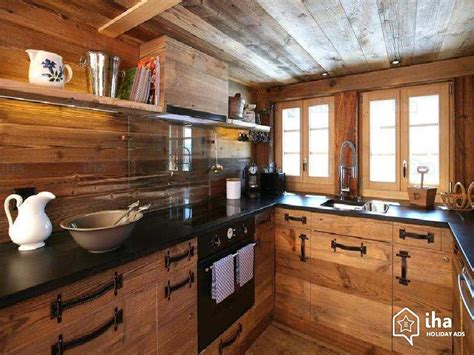 modele de cuisine rustique chalet for rent in les diablerets iha 46789