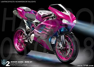 Concept art of ROTF Arcee sisters motorcycle modes ...