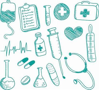 Nursing Medical Medicine Supplies Drawing Doodle Artwork