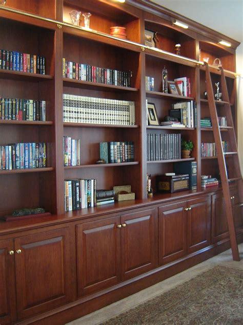 custom  bookcase wall  ladder  odhner odhner