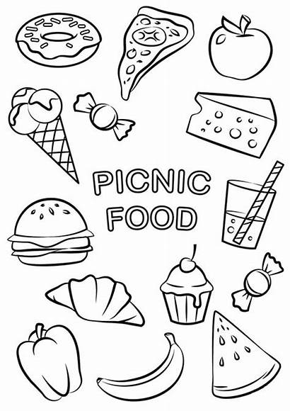Coloring Pages Easy Picnic Tulamama
