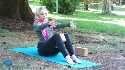 Boat Pose With A Block by Namaste 284 With Two Blocks An Intermediate