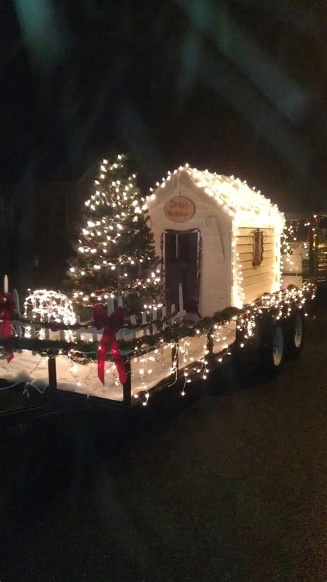 christmas parade float with lights parade ideas pinterest