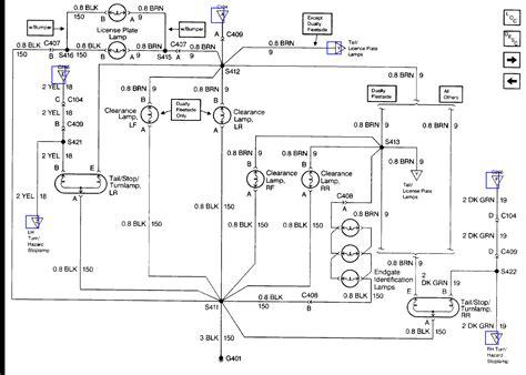 2001 gmc light wiring diagram 41 wiring