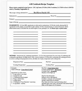 cookbook templates create your own recipe book word pdf With creating a cookbook template