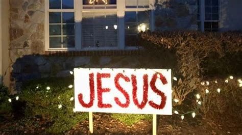Homeowners Association Demands 'jesus' Sign Be Taken Down