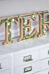 kara39s party ideas diy spring moss easter letters kara39s With michaels small wooden letters