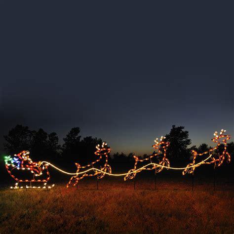 outdoor light up santa shop holiday lighting specialists 4 75 ft santa sleigh