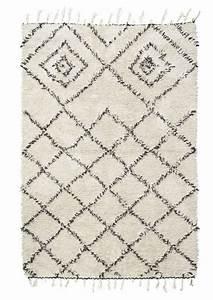 tapis scandinave ethnique 39kuba39 ivoire noir 140x200cm With tapis house doctor