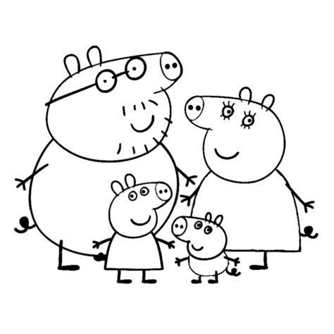 disegno da stare peppa pig disegno di peppa pig family da colorare per bambini