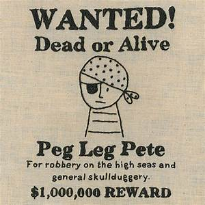 sample pirate wanted poster by shinyhappyworld on etsy With wanted pirate poster template