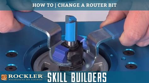 change  router bit rockler skill builders youtube