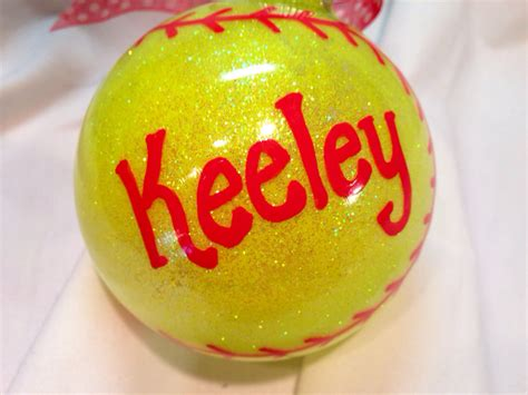 softball christmas ornament hand painted personalized