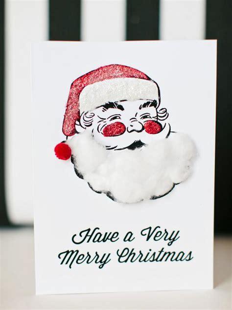 kids craft printable santa holiday card hgtv