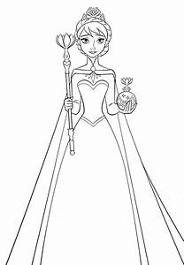 elsa frozen coloring pages - queens free colouring pages