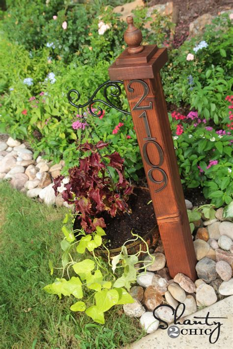 house number sign for l post address numbers post planter shanty 2 chic