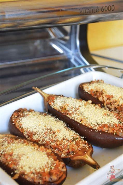 recette de cuisine avec aubergine aubergines farcies au thon et riz lolibox recettes de
