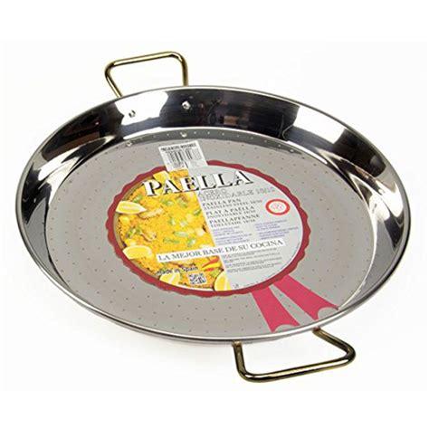 batterie de cuisine cristel plat à paella en inox haut de gamme 55cm