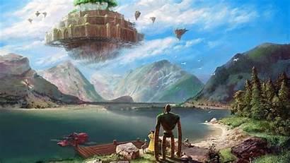 Ghibli Studio Wallpapers Sky Castle Laputa