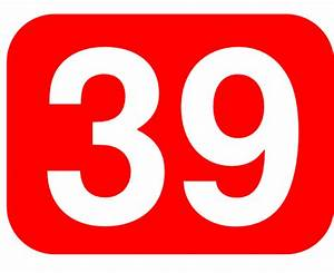 Red Rounded Rectangle With Number 39 Clip Art at Clker.com ...