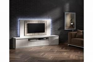 Meuble TV Moderne Avec Panneau TV Frne Et Bois Vieilli