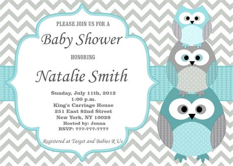 baby shower printed baby shower invitations card