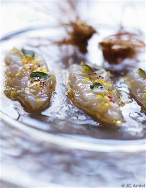 cuisiner des langoustines langoustines crues marinées pour 4 personnes recettes
