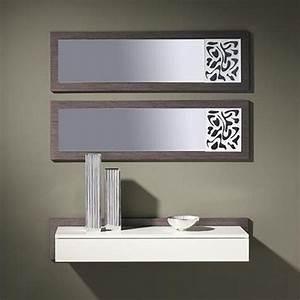 Console Murale Suspendue : meuble entree cedre gris monet zd1 meu dentr ~ Teatrodelosmanantiales.com Idées de Décoration