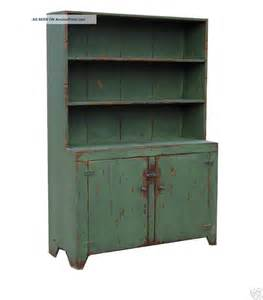Primitive farmhouse step back hutch painted country rustic Early American custom reproduction stepback cupboard cabinet