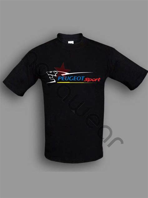 Scout Boats T Shirt by Peugeot Sport T Shirt Black Peugeot Sport Accessories