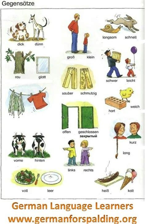 Adjectives And Their Opposites  German Language (deutsche Sprache)  Pinterest  Manual And