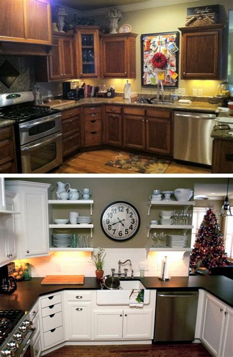 budget friendly kitchen makeovers before and after 25 budget friendly kitchen makeover 4950